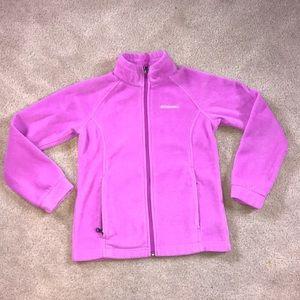 Girls pink Columbia fleece zip up